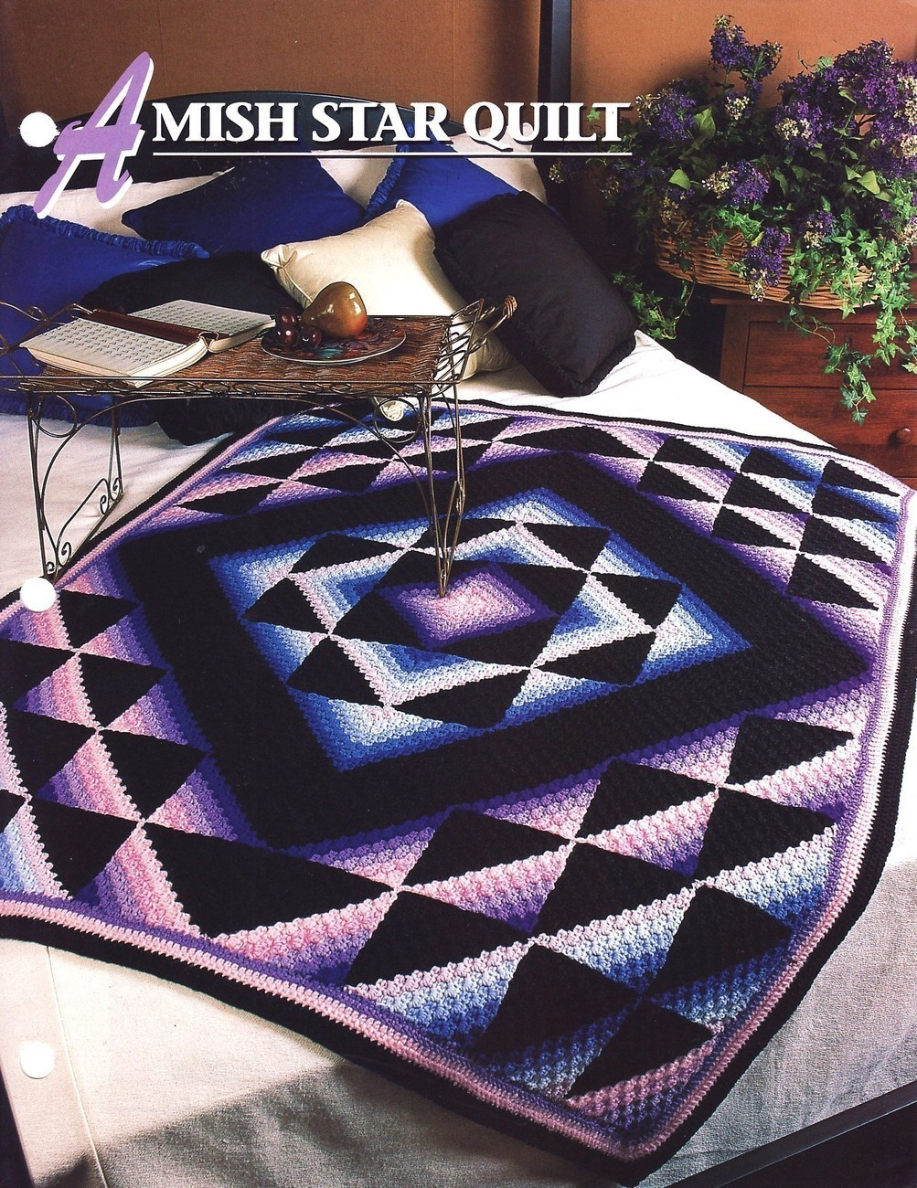 Crochet Afghan Patterns Quilt : Amish Star Quilt Crochet Pattern Annies Crochet Quilt ...
