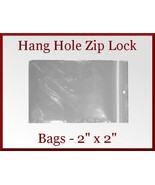 100 Zip Lock Recloseable Poly Bags with Hang Ho... - $5.75