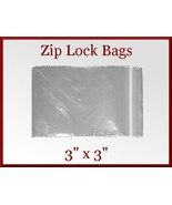 200 Zip Lock Top Recloseable Poly Seal Bags 3 x... - $5.98