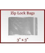 100 Zip Lock Top Recloseable Poly Seal Bags 3 x... - $4.25