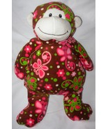 Mary Meyer Print Pizzazz Cocoa Monkey Plush Stu... - $15.50