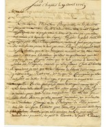 1776 Letter from Saint Chaptes, France in Frenc... - $25.00