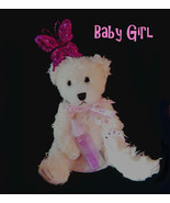 Wax Dipped Plush Baby Girl Bear Flameless Scent... - $22.00