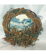 Saw Blade Small Blue with Wreath Victorian Look - $65.00