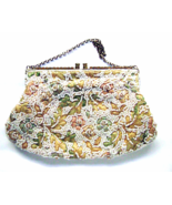 Vintage Saks Fifth Avenue Pastel Embroidered Be... - $34.00