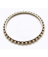J Crew Silver Stack Bangle Bracelet Thin Beaded... - $12.00