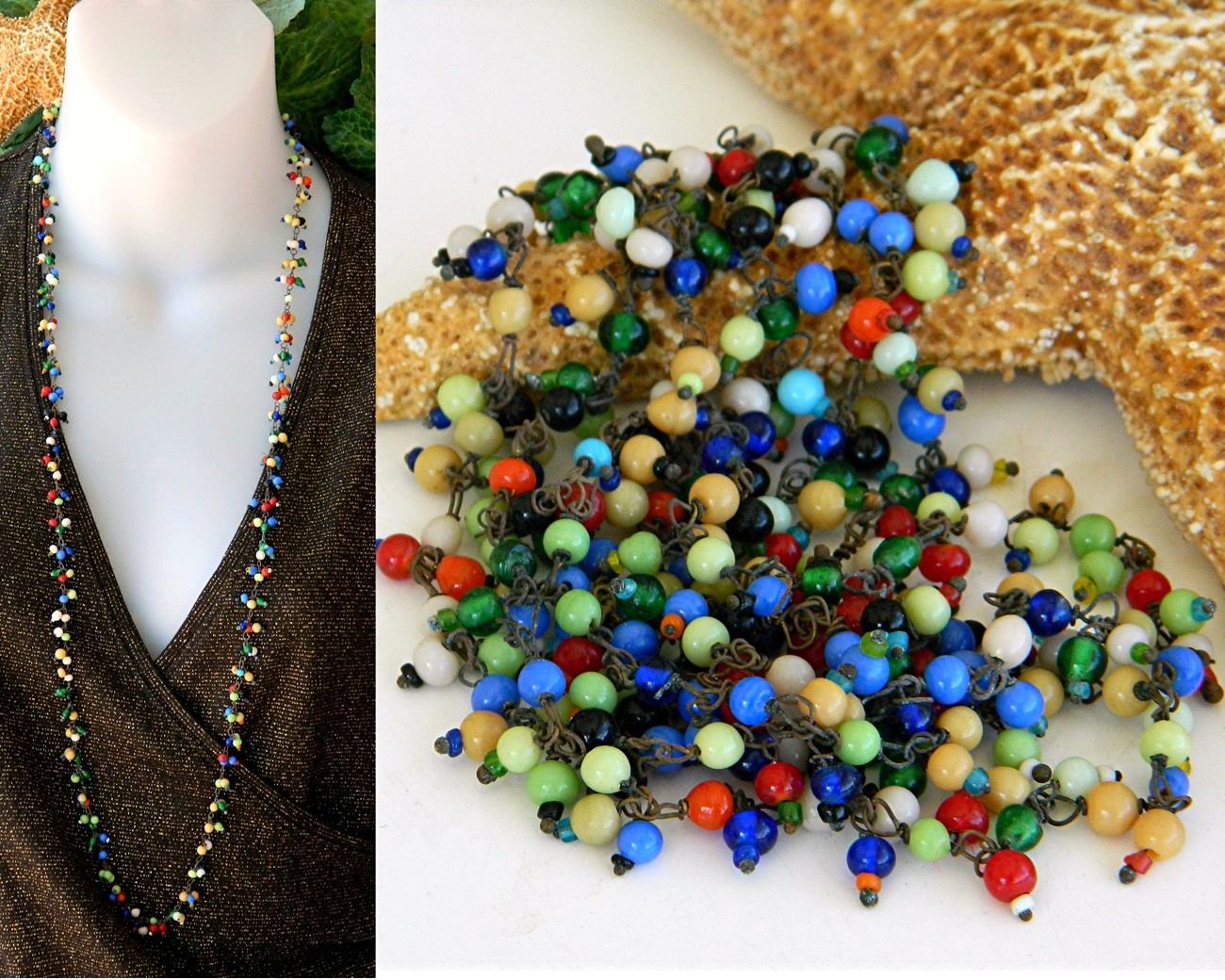 Vintage_glass_beads_tiny_wired_multicolor_necklace_flapper