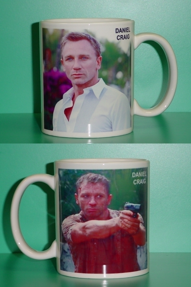 Daniel Craig James Bond 2 Photo Collectible Mug