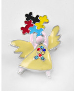 Angel Shaped Autism Puzzle Brooch Multicolor Ep... - $15.00