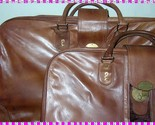 Buy Vintage leather luggage set 2 pc Roberta di Camerino Italy