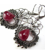 Ruby and Diamond luxe Earring - $342.00