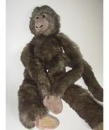 Animal Alley Hanging Monkey Dark Gray Plush Stu... - $21.98