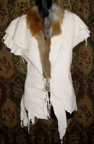 Leather Vest  Deerskin Shaman  Primitive Vest Custom 4U