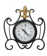 DDI Desk Clock fleur de lis design Case Pack 4 - $119.76