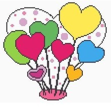 Valentine Hearts Crochet Graph Afghan Pattern - $3.75