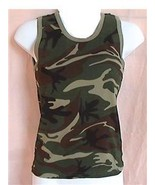 Large Green Camouflage Tank Top Womens Sleevele... - $8.99