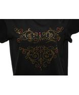 Harley Davidson Black T-Shirt Gold and Purple C... - $24.99