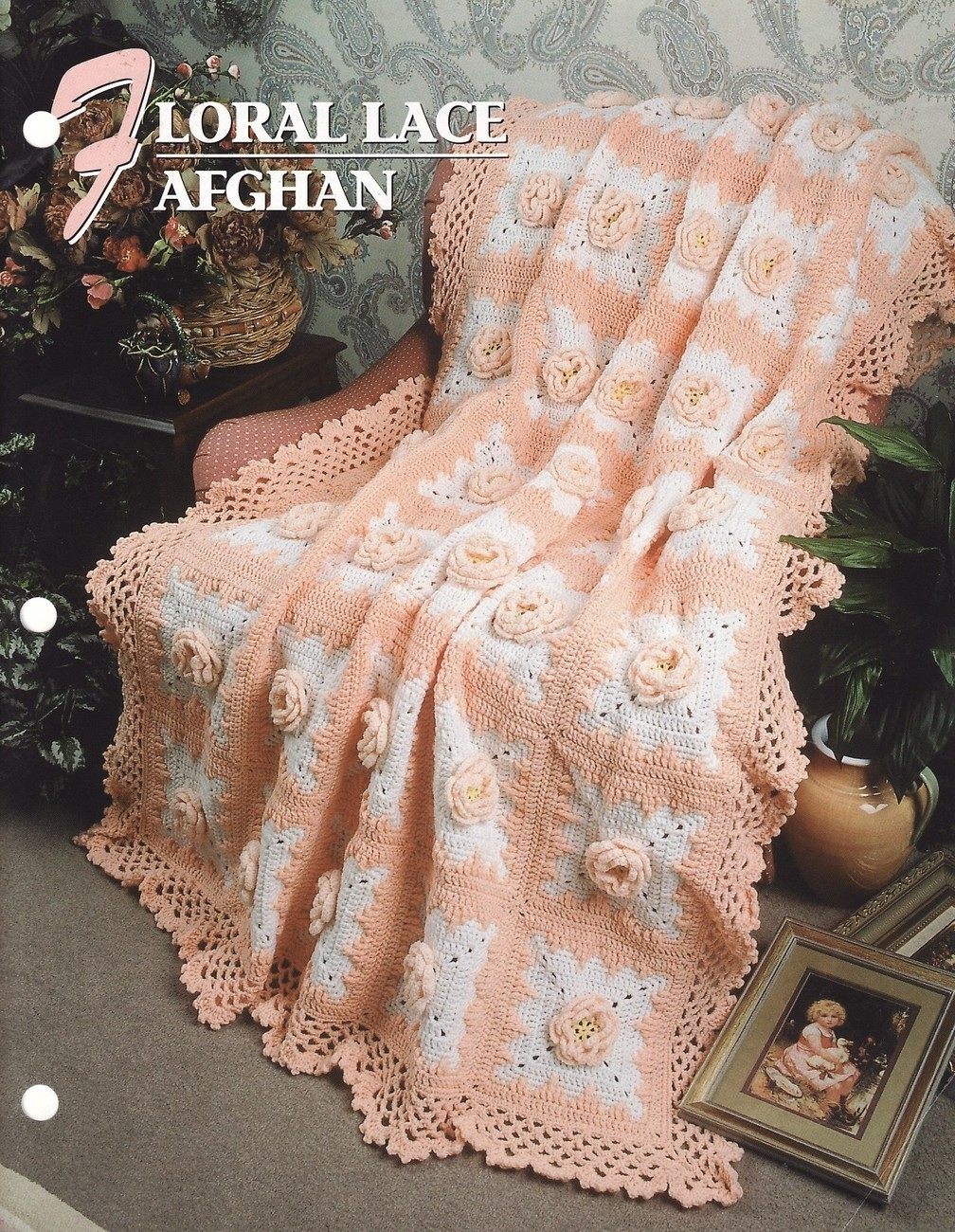 Floral Lace Afghan Crochet Pattern Blanket Throw Victorian ...