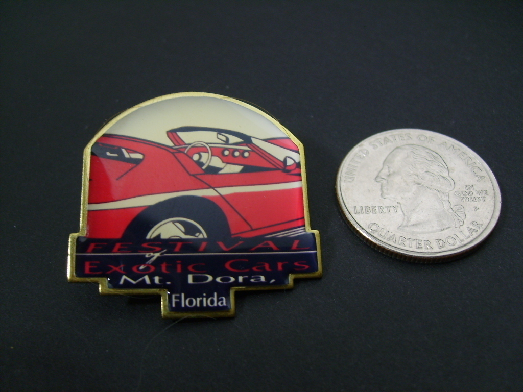 Exotic Cars Festival Mt. Dora, Florida Hat Tac Pin
