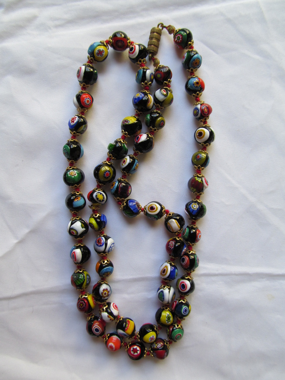 Vintage Venetian Glass Beaded Necklace