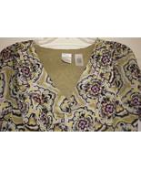 Emma James Ladies Floral blouse Petite Large - $8.95