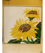 Mod SUNFLOWERS Original Painting Glenda Secrest... - $200.00
