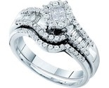Buy 14K White Gold .73 CT Diamond Engagement Wedding Set