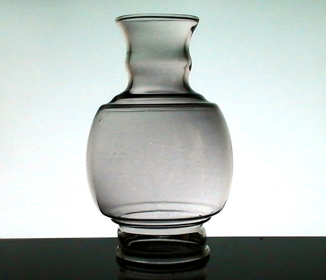 Hurricane Shade Bulbous 3 inch fitter x 7 3 8 Smokey Gray Tint