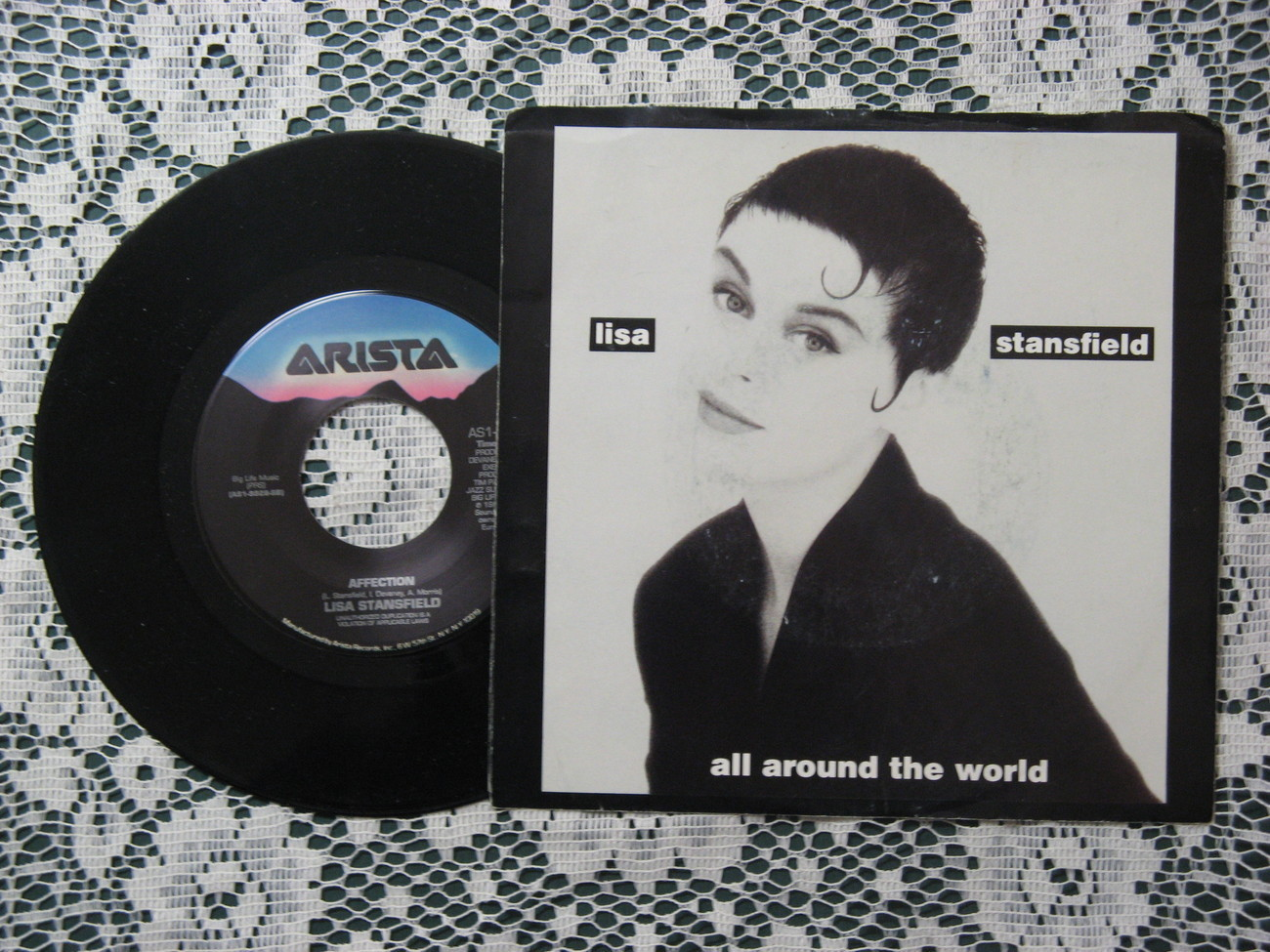 Lisa Stansfield ALL AROUND THE WORLD 45RPM Arista