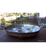 ANTIQUE OLD Copper-Washed Tin Egg Poacher w/Bra... - $85.00