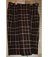 Alex Gaines  Wool Plaid Skirt & Silk  Blouse Sz... - $150.00