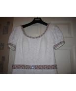 PEGGY JENNINGS $4595 White Lace DRESS Sz 8  - $1,500.00