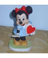 Disney Minnie Mouse Valentine Heart Figurine - $24.99