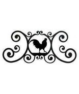 Rooster Over Door Plaque Flat Black Powder Coat... - $29.94