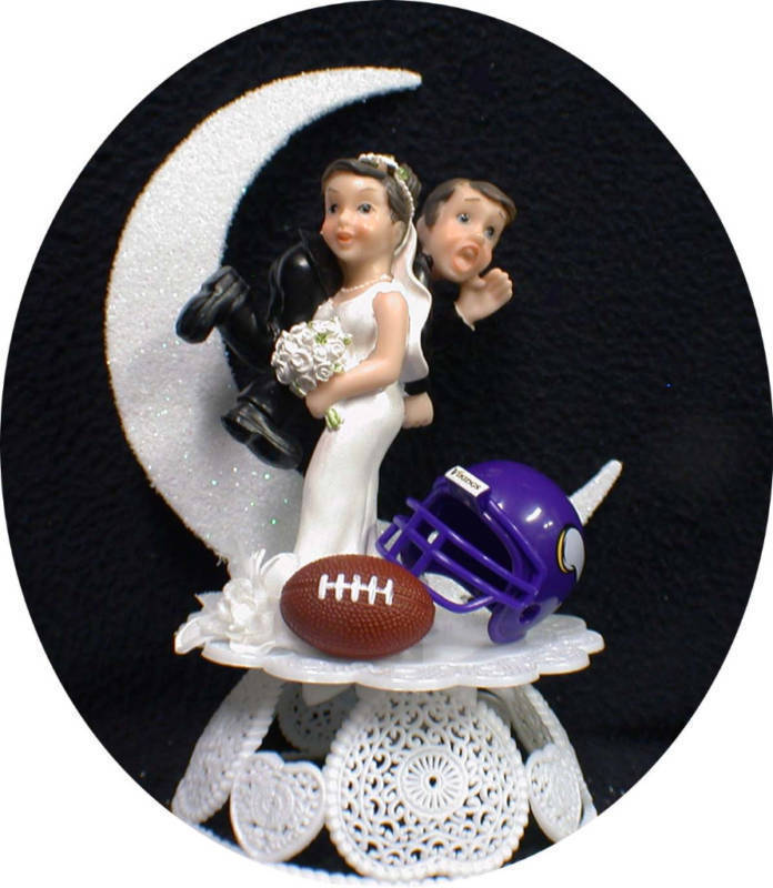 Minnesota Vikings Wedding Cake Topper