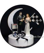 Racing Fan Wedding Cake Topper NasCar Groom Bride Flag - $67.80