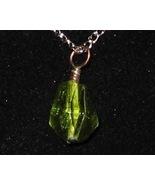 Faceted Green Teardrop Pendant - Unique Glass J... - $3.50