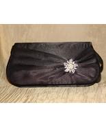 Elegant  Black Satin and crystal evening bag New - $25.00