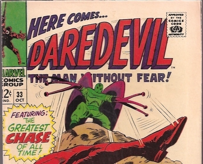 First Series Daredevil 33 Lee Marvel Comics Book Vfnm