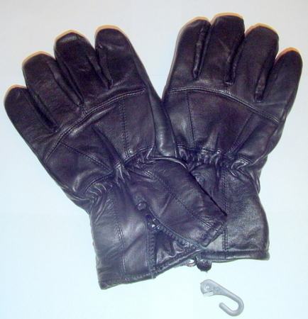 MEN BLACK GENUINE LEATHER WINTER GLOVES Small