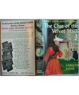 Nancy Drew THE CLUE OF THE VELVET MASK #30 hcdj... - $15.00