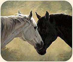 Horse Mouse Pad Art by Adeline Halvorson Fiddler's Elbow New Free Shipping
