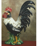Intrada Campagna Rooster Black & White Made in ... - $625.00