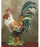 Intrada Campagna Rooster Colored Made in Italy ... - $625.00