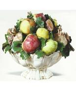 Intrada Footed Friut Bowl Italian Statue Cerami... - $625.00