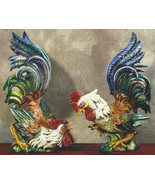 Intrada Large Fighting Cesare Roosters Made in ... - $1,570.00