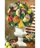 Intrada Large Footed Vase with Friut Italian Ce... - $595.00
