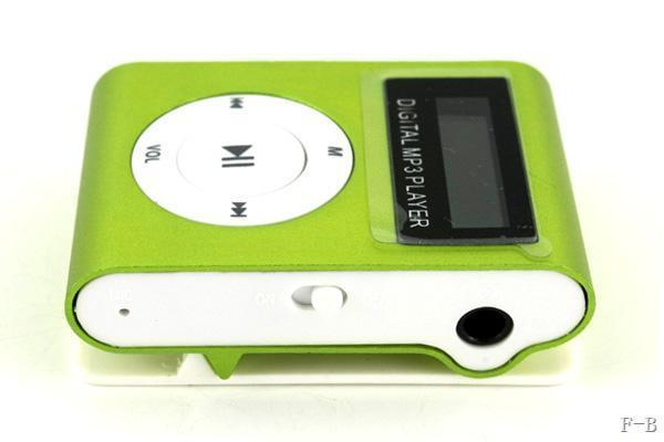 2GB Mini MP3 Player W/ LCD Screen Clip Micro SD TF Slot GREEN