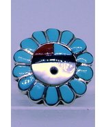 Ring sterling silver handmade Zuni inlay. genui... - $55.00