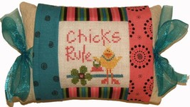 Chicks Rule (PMD-360) Tie One On Kit cross stit... - $18.00